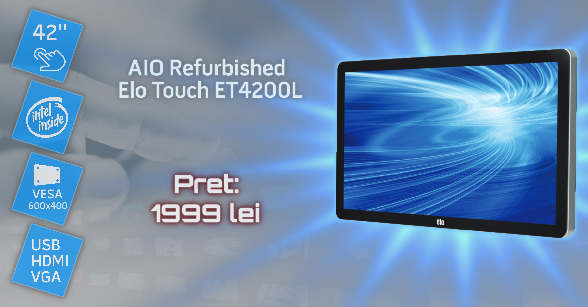Sistem All-in-One Refurbished ELO Touch ET4200L