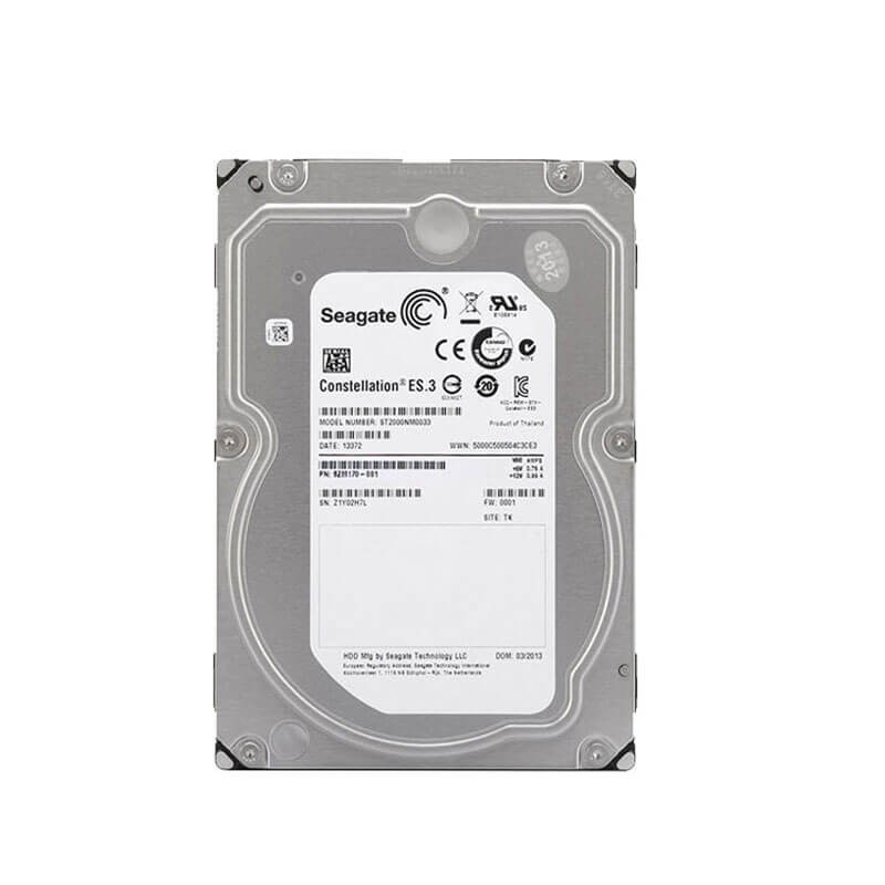 Hard Disk Refurbished Enterprise, 2TB, 128MB Cache, ST2000NM0033