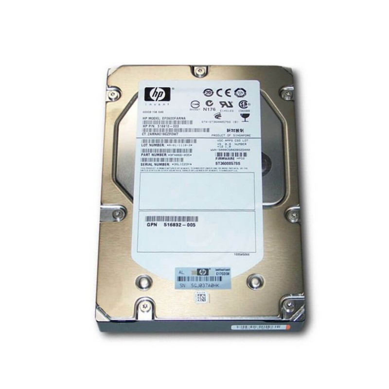 Hard Disk Refurbished HP 600GB SAS 3.5 inch, 15K RPM, 6GB/s, 516810-003