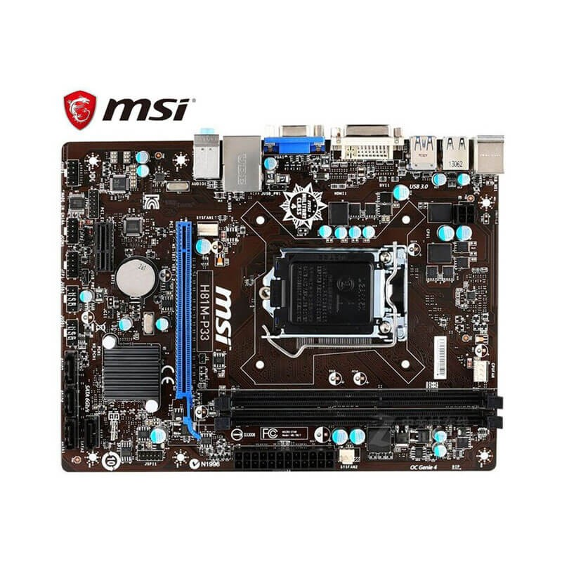 Placa de baza MSI H81M-P33, Socket 1150