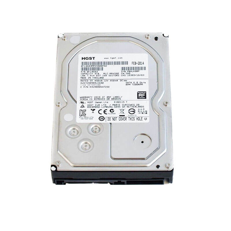 Hard Disk Refurbished Hitachi 7K6000 4TB, 7200 RPM, 128MB Cache, SATA 3, HUS726040ALA610