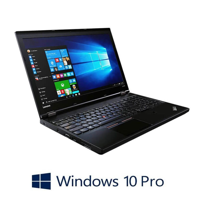 Laptopuri Refurbished Lenovo ThinkPad L560, i5-6300U, Full HD, Webcam, Win 10 Pro