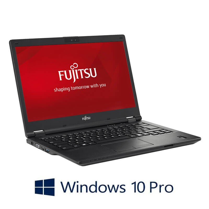 Laptop Refurbished Fujitsu LIFEBOOK E449, i3-8130U, SSD, FHD, Webcam, Win 10 Pro