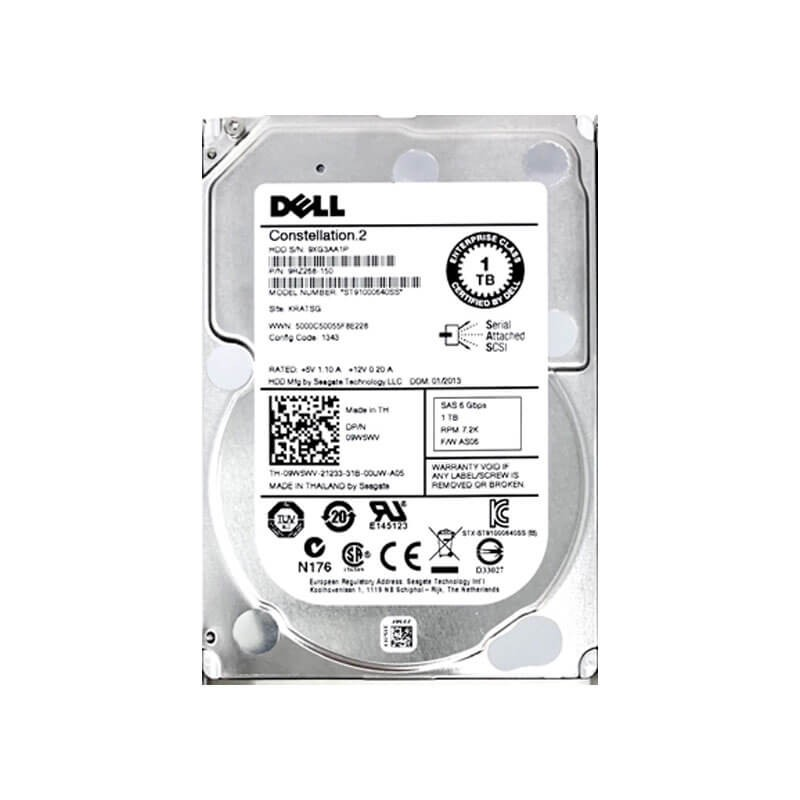 Hard Disk Refurbished Dell 9W5WV 1TB SAS 6Gbps 2.5 inch, 7.2K RPM, 64 Mb Cache