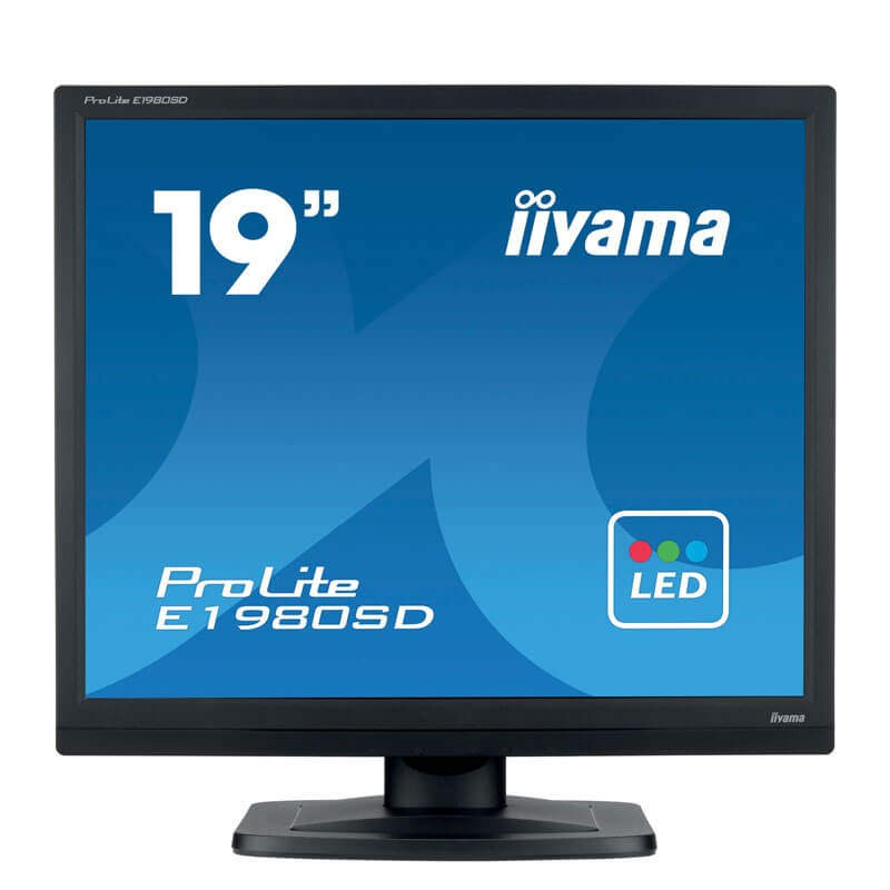 Monitoare Refurbished LED Iiyama PROLITE E1980SD, 19 inch