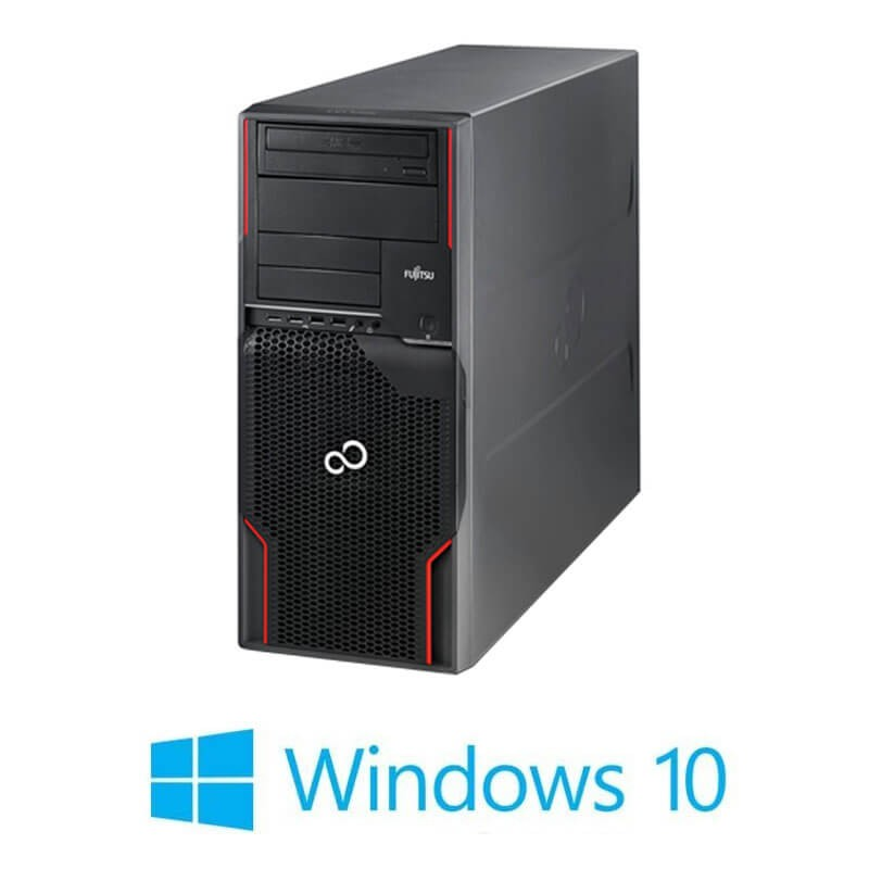 Workstation Refurbished Fujitsu CELSIUS W510, E3-1225, SSD, GeForce GT 240, Win 10 Home