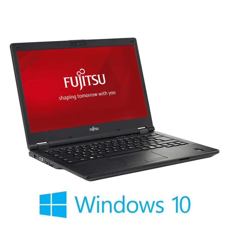 Laptop Refurbished Fujitsu LIFEBOOK E449, i3-8130U, SSD, FHD, Webcam, Win 10 Home