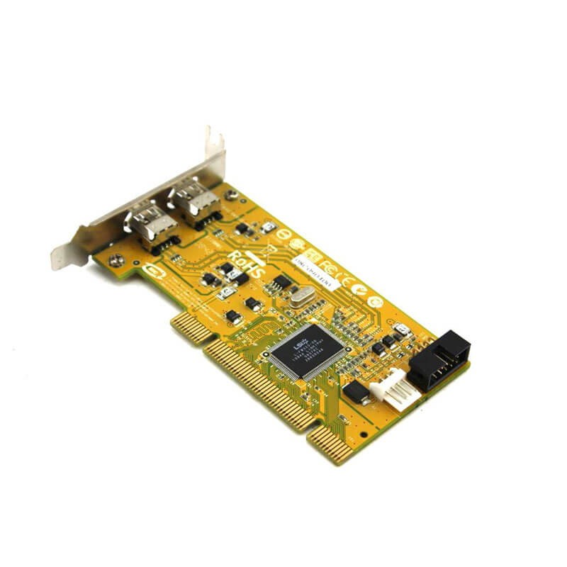Adaptor Refurbished PCI la 2 x FireWire IEEE 1394, HP 515182-001, Low Profile