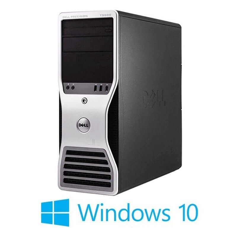 Workstation refurbished Dell Precision T5500, Xeon Hexa Core X5650, 24GB, Win 10 Home