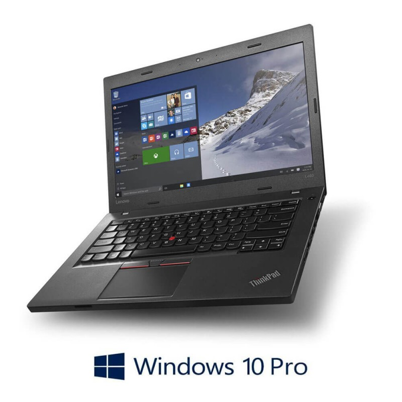 Laptop Refurbished Lenovo ThinkPad L560, i5-6300U, SSD, Webcam, Windows 10 Pro