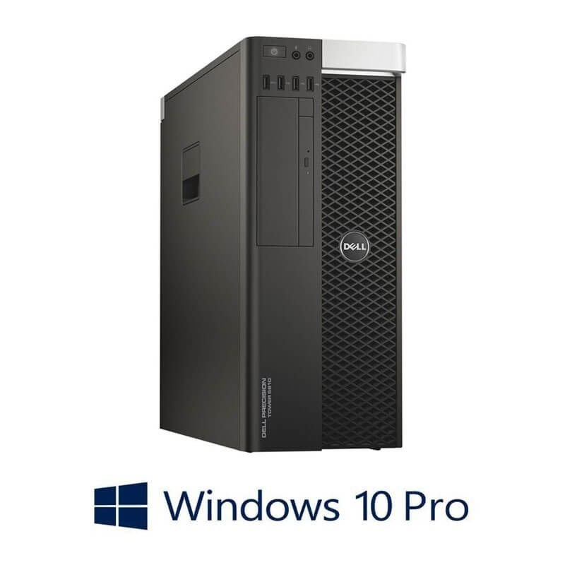 Workstation Refurbished Dell Precision 5810 MT, E5-2680 v3, 64GB, Quadro K4200, Win 10 Pro