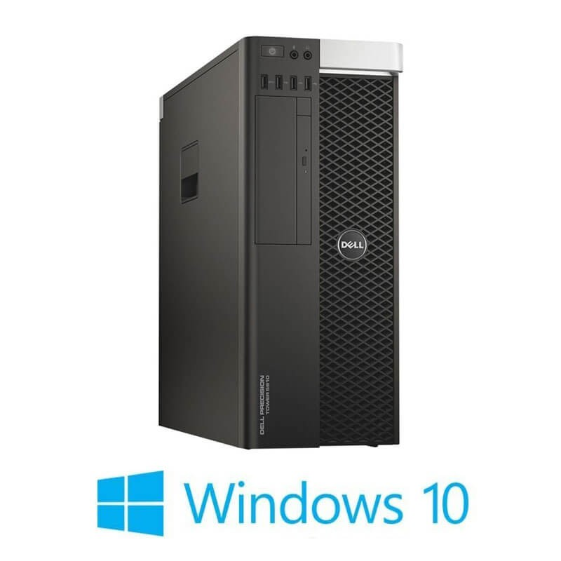 Workstation Refurbished Dell Precision 5810 MT, E5-2680 v3, 64GB, Quadro K4200, Win 10 Home