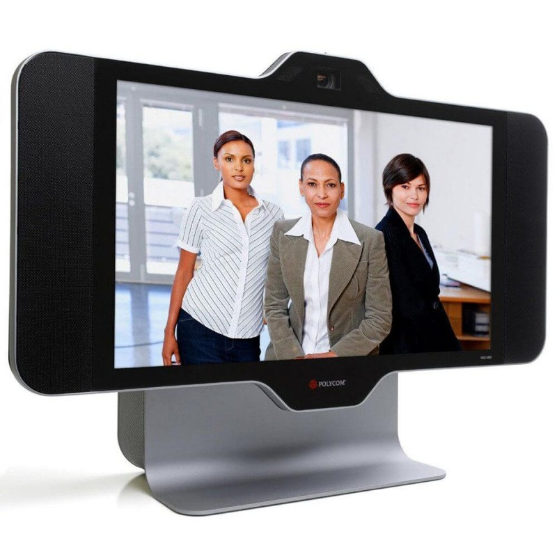 Sistem Video Conferinta Polycom HDX 4500, Display 24 inch Full HD