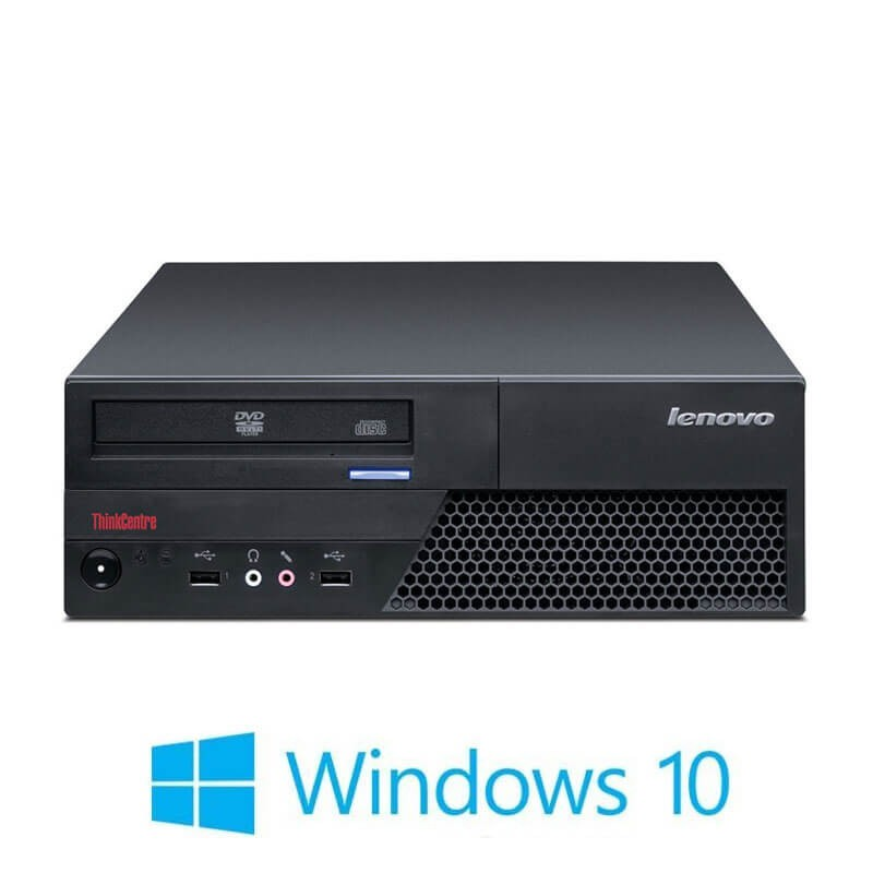 Calculatoare Refurbished Lenovo ThinkCentre M58 SFF, Core 2 Duo E7500, Win 10 Home