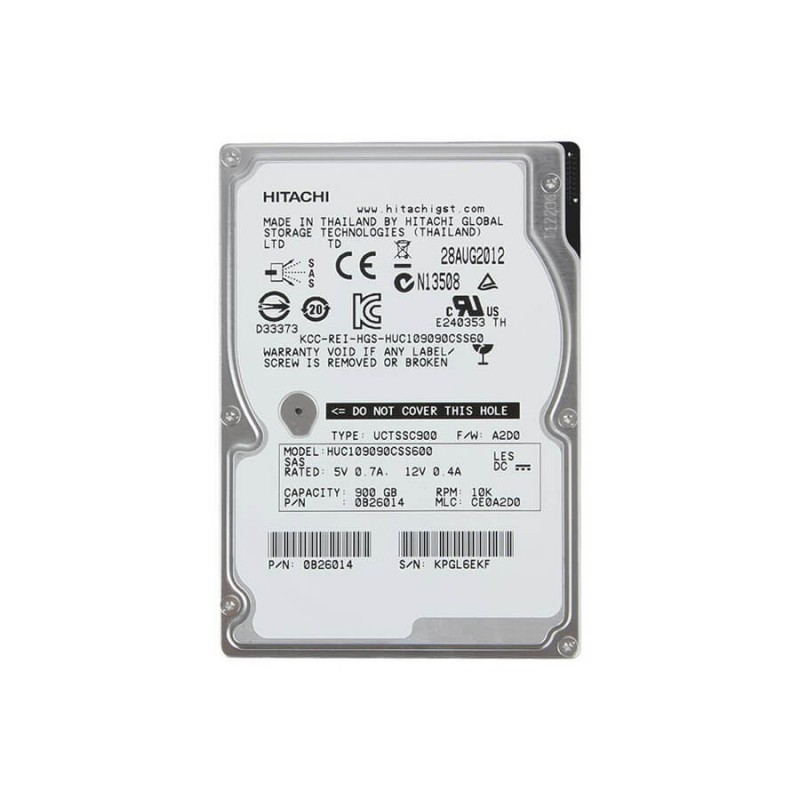Hard Disk Server SH HGST Ultrastar HUC109090CSS600 900GB 10K RPM SAS 6Gb/s 2.5