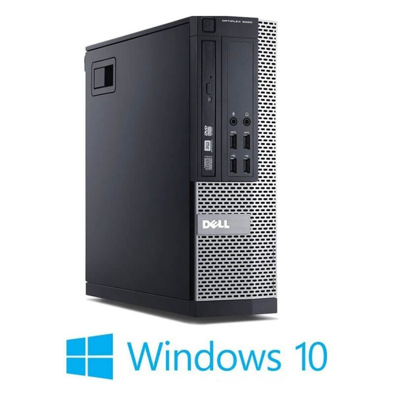 Calculatoare Refurbished Dell OptiPlex 9020 SFF, Quad Core i5-4690, SSD, Win 10 Home